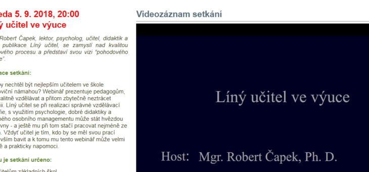 Záznam webináře pro portál RVP